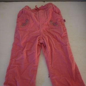 Osh Kosh 18m Pink floral embroidered Cords pants
